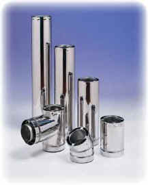 AirJet 2100�F All-Fuel Chimney with optional Stainless Steel Outer Wall